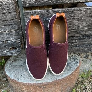 Maroon G.H. Bass & Co Slide on Sneakers